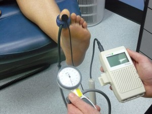 Diabetic blood flow testing